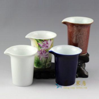 RYYM10 手工颜色釉 花色釉 粉彩多款特价公道杯