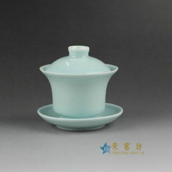 14HM30颜色釉盖碗 三才碗 泡茶杯