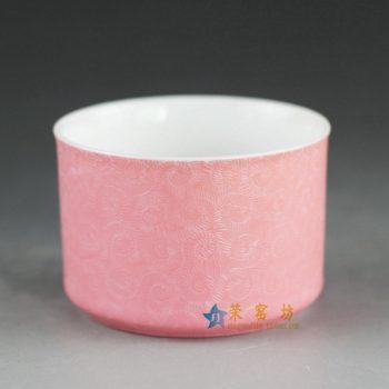 RYHV17 手工扒花茶杯 品茗杯