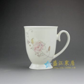 RYDY27-C 手绘粉彩花卉图茶杯 品茗杯