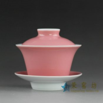 14CS110 手工颜色釉盖碗 泡茶碗 三才碗
