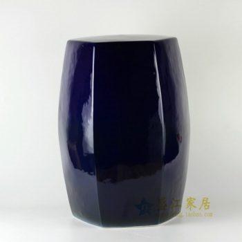 RYNQ170颜色釉 六棱鼓瓷凳 凉墩