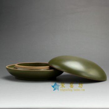 RYPM29-B 茶叶末釉印泥盒 办公用具