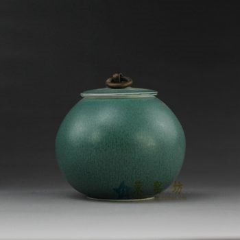 RYQN35 花色釉茶叶罐 盖罐