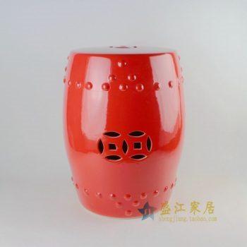 RYKB111手工颜色釉瓷凳 鼓凳 凉墩