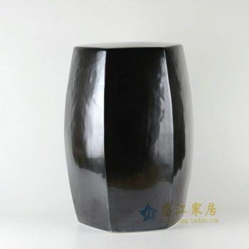 RYNQ170 颜色釉六棱鼓瓷凳 凉墩