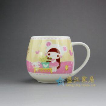 RYDY30-A手绘粉彩卡通女孩像茶杯 品茗杯 咖啡杯
