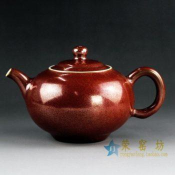 14CS43手工花色釉茶壶 泡茶壶