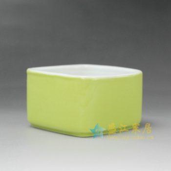 RYYF19-B 7253颜色釉四方花缽 花插 尺寸: 口径 9厘米 高 5.3厘米