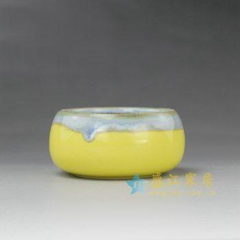 RYYF20-A 7264陶艺流口釉花缽 花插 尺寸:口径 6.5厘米 肚径 8厘米 高 4厘米