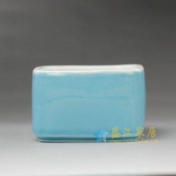 RYYF19-C 7255颜色釉 四方花缽 花插 尺寸: 口径 9厘米 高5.3厘米