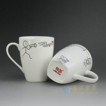 CBAG01-C 9204新骨瓷 创意个性卡通童画茶杯 品茗杯 咖啡杯 尺寸:9.2厘米 高 10.3厘米 容量 310厘米