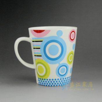 CBAG01-A 新骨瓷创意个性彩画茶杯 品茗杯 咖啡杯 尺寸:口径 9.2厘米 高 10.5厘米 容量 350毫升