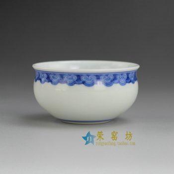 RYBS99 9090敬畏堂全手工茶杯 手绘青花如意纹茶杯 品茗杯 功夫茶具 尺寸: 口径 6.8厘米 高 3.6厘米 容量 65毫升