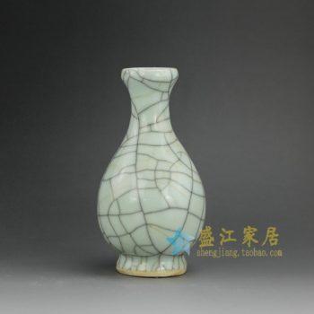 RYXC18-G 手工 裂纹釉 开片花瓶花插 尺寸:口径 4.2厘米 肚径 8.8厘米 高 16.5厘米
