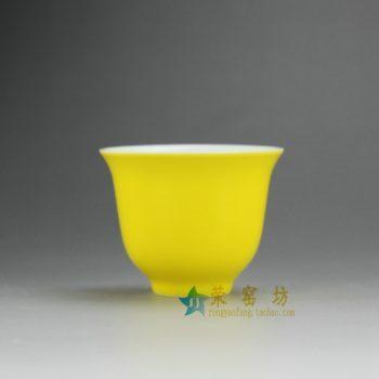 14FS40-A 8213手工颜色釉茶杯 品茗杯 功夫茶具 尺寸:口径 6.5厘米 高 5厘米 容量 65毫升
