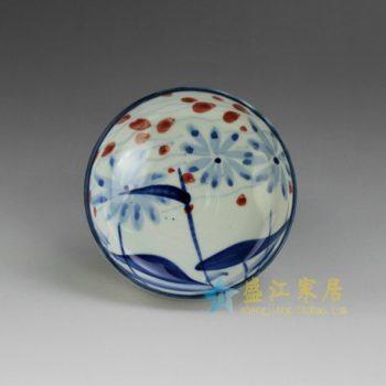 RYEW21-A 8967手工青花水草小碟 尺寸:口径 11.8厘米 高 4.6 容量 200毫升