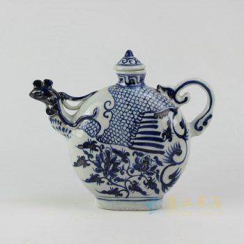 -RZEZ06 9423仿古青花凤嘴茶壶 泡茶壶 口径 4.3厘米 长 26.5厘米宽8.5厘米 高 22.6厘米