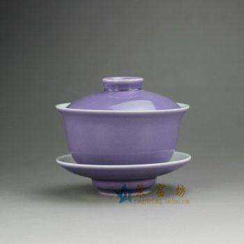 14FS39-B 8207手工颜色釉盖碗 三才碗 泡茶杯 尺寸:口径 9.3厘米 碟径 9.6厘米 高 8.2厘米 容量 160毫升