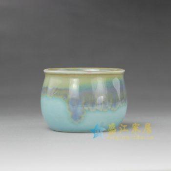 RYYF21-A 7273陶艺流口釉花缽 花插 尺寸: 口径 6.2厘米 肚径 6.9厘米 高 5厘米