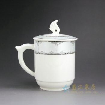 CBAG03-C 新骨瓷 金边花卉纹带盖茶杯 品茗杯 办公杯 老板杯 尺寸 : 口径 8.3厘米 盖径 9.5厘米 高14.2厘米 容量 400毫升
