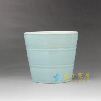 RYYF23-A 7287颜色釉环圈刻纹花盆 花缽 尺寸: 口径 11.6 厘米 高 10.8厘米