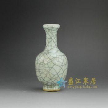 RYXC18-D 8396手工裂纹釉花瓶 花插 尺寸:口径3.8厘米 肚径 8.1厘米 高16.3厘米