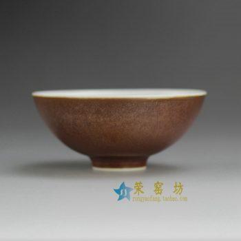 14CS112-D 铁锈红铁锈釉茶杯 茶碗 功夫茶具 尺寸:大号