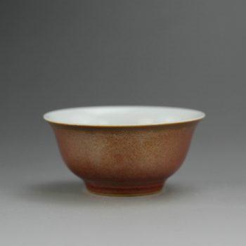 14FS38-B 8224手工釉靶子 铁锈红 花色釉茶杯 茶碗 汤碗