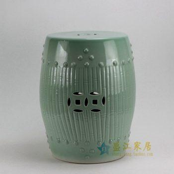 RYKB88-A 0568景德镇陶瓷 高温颜色釉鼓凳 凉墩 瓷凳