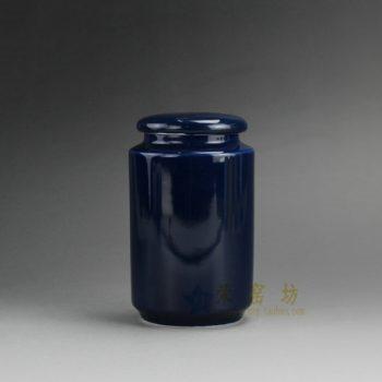 RZDT02-E 9984景德镇陶瓷 高温颜色釉宝石蓝 茶叶罐 盖罐 密封罐 规格尺寸:口径 5.8厘米 肚径 7.8 厘米 高 13.2 厘米