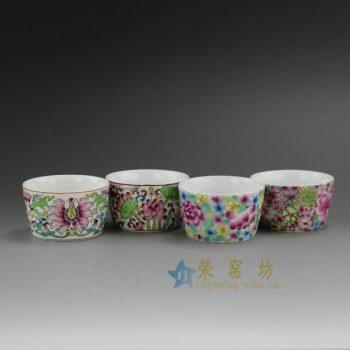 RYIC31 0685景德镇陶瓷 手绘珐琅彩茶杯 品茗杯 功夫茶具