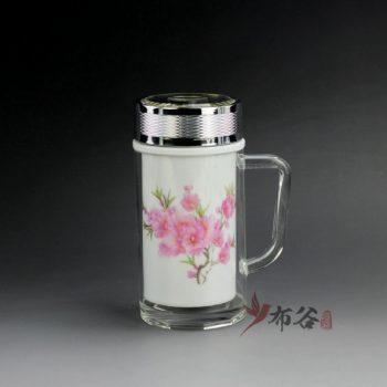 CBDI46-C 手工双层瓷胆粉彩图纹旅行杯 保温杯 尺寸:口径 6.5厘米 肚径 8.2厘米 高 16.2厘米 容量 380毫升