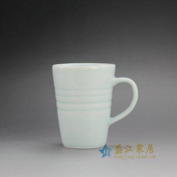 RZFE01-A 手工颜色釉刻纹茶杯 品茗杯 马克杯功夫茶具 尺寸: 口径 8.2厘米 高 10.6厘米 容量 285厘米