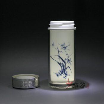 CBDI44-D 手工双层隔热陶瓷内胆旅行杯 保温杯 养生杯