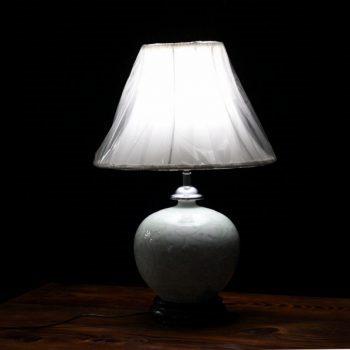 14AA38 1057陶瓷石榴瓶底座台灯