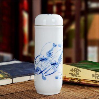 CBAJ05-K手工双层全瓷隔热保温杯 旅行杯 养生杯