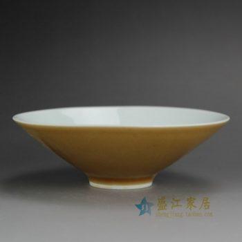 14EI58-F 颜色釉 斗笠碗 斗笠杯 功夫茶杯 尺寸: 口径 13.8厘米 高 4.5厘米 容量 180毫升