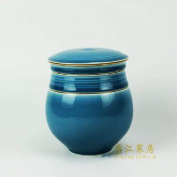RYDD20 2627颜色釉鬲式茶叶罐 盖罐 密封罐 尺寸:口径 12厘米 肚径 14.2厘米 高 16.5厘米