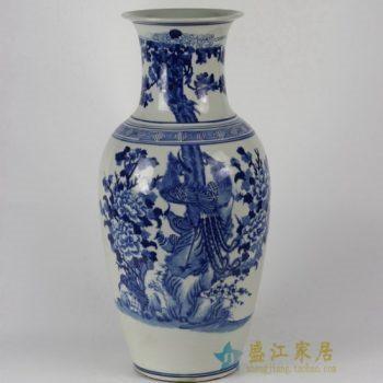 RYLU33 1694手绘锦上添花图花瓶 花插 工艺装饰摆件