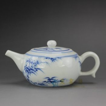 RYZ164 手绘青花翠竹图茶壶 泡茶壶 茶具 尺寸; 口径 5.8厘米 肚径 9.1厘米 高 6.5厘米 容量 180毫升