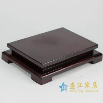 RZFY01 木质陶瓷制品底座     尺寸:底层 长 22厘米  宽  19.5厘米   上层 长  17厘米 宽 14.5厘米   高 5厘米