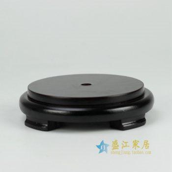 RZFY02 木质陶瓷制品底座 尺寸: 长16厘米 宽 13.5厘米 高 3.8厘米
