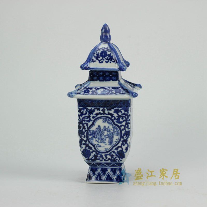 RZGE02 青花陶瓷雕塑小宝塔