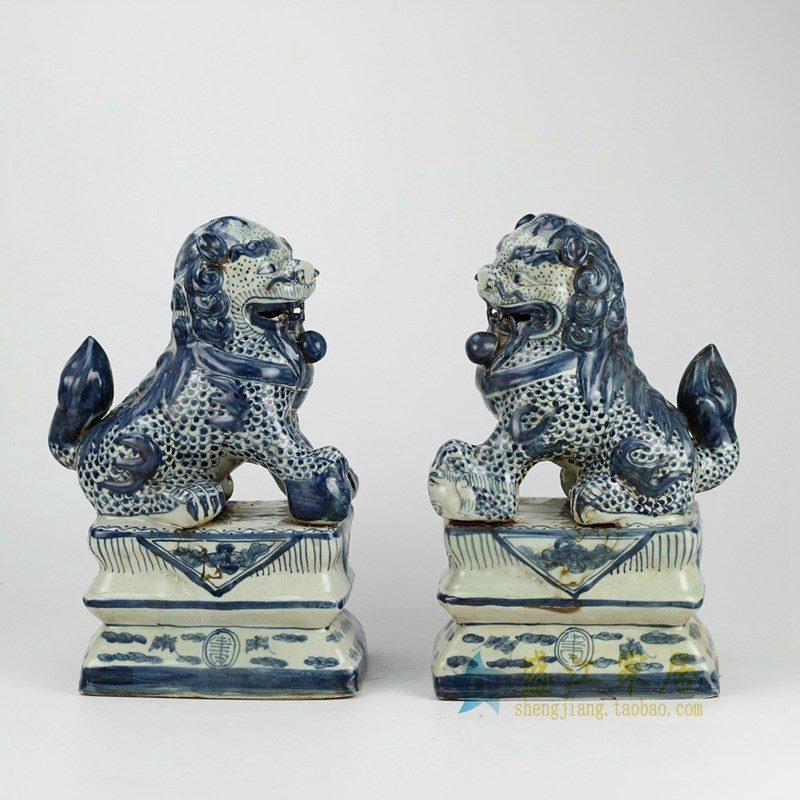 RZGA01 青花雕塑狮子
