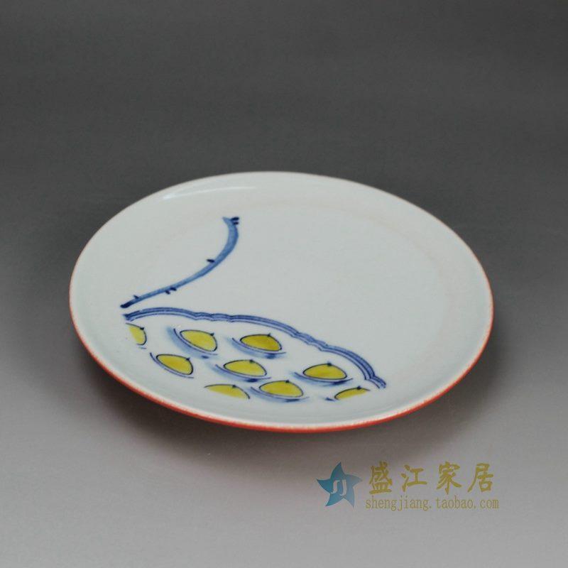 RZFZ-B-16 手工陶艺碟子 果碟
