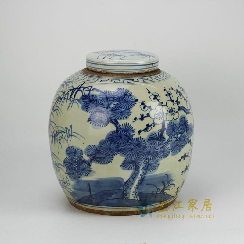 RZFZ05-B 手绘青花瓷器坛 罐