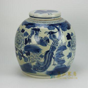 RZFZ05-A 手绘花鸟茶叶罐 坛
