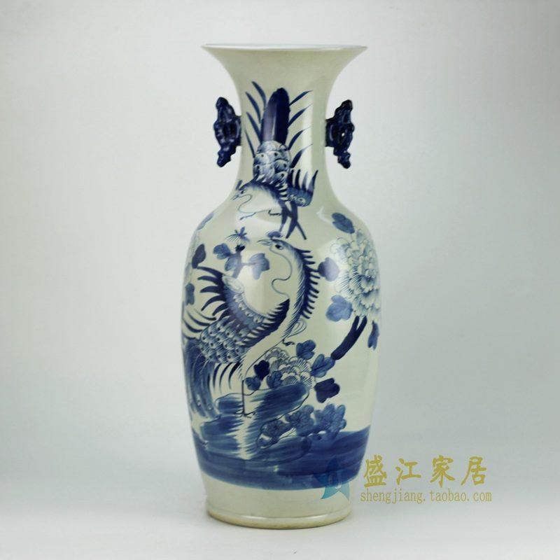 RZFZ04-A   青花双耳花瓶