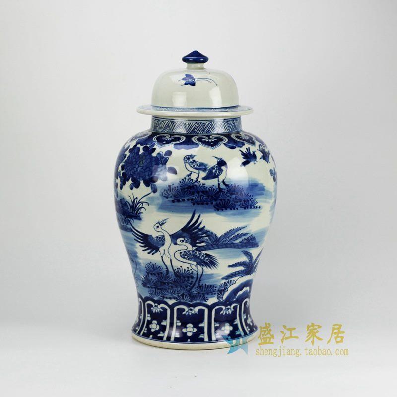 RZFZ02-B 青花将军罐